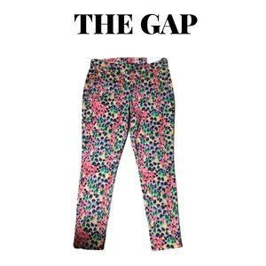 🆕 Gap Pink Floral Skinny Mini Khakis, Size 2